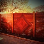 .... a feature fence ....