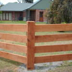 .... a post and rail fence ...